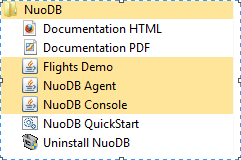 NuoDB installed folder